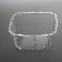 Transparent PLA food container 1800 ml