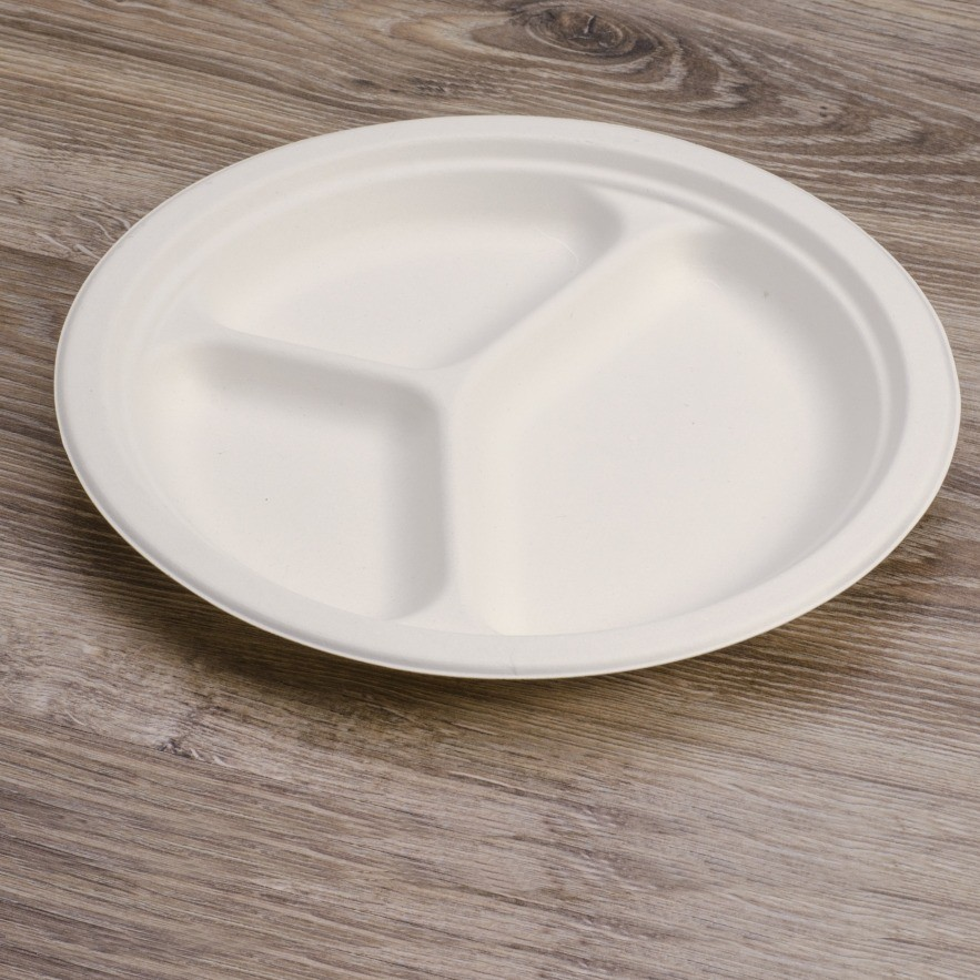 Round plate 3 compartments