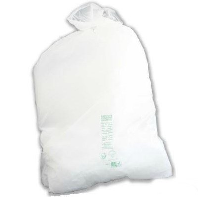 White Mater-Bi rubbish bag 70x110 cm