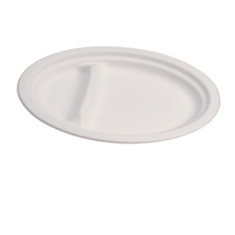 Oval plate 2 compartments