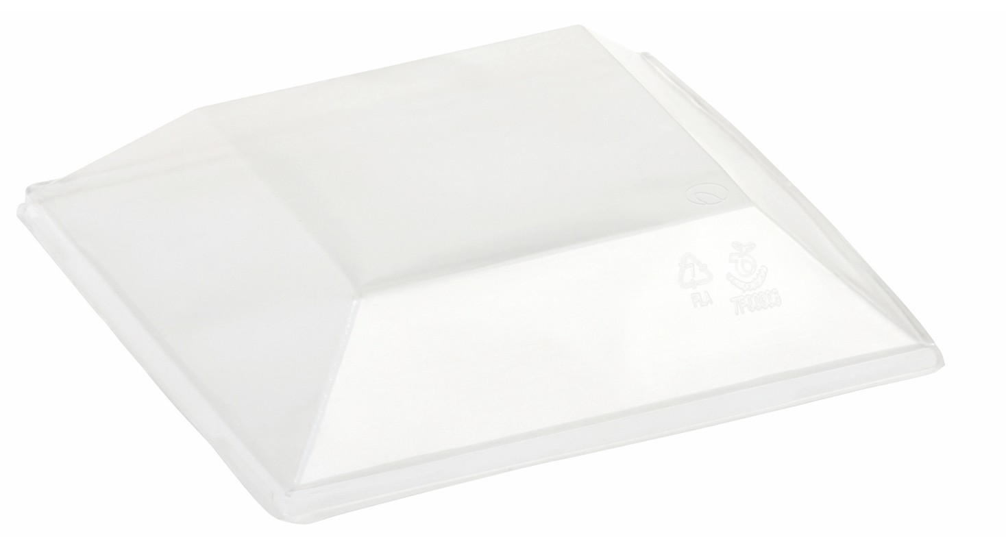 PLA lid for food tray 16x16 cm