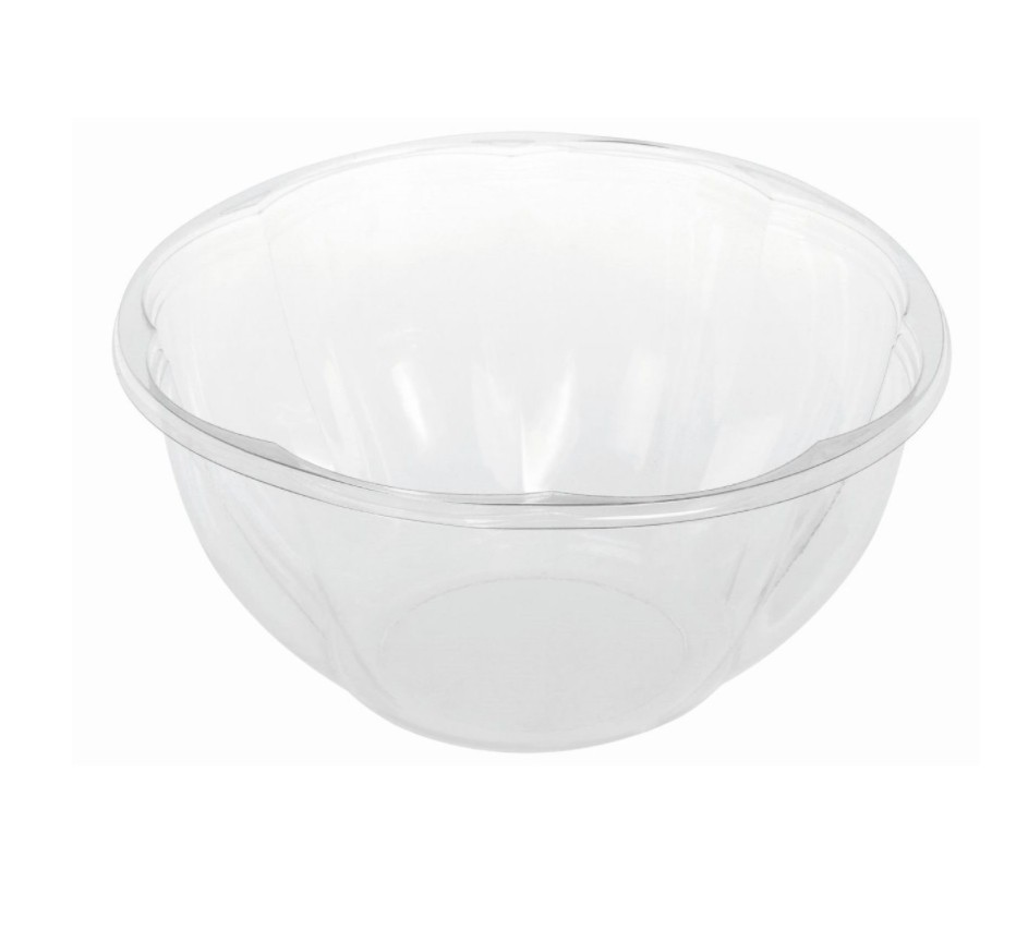 Transparent PLA round container 950 ml