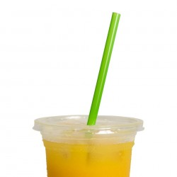 Green bioplastic straw