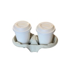 Cupholders 2 places in cellulose
