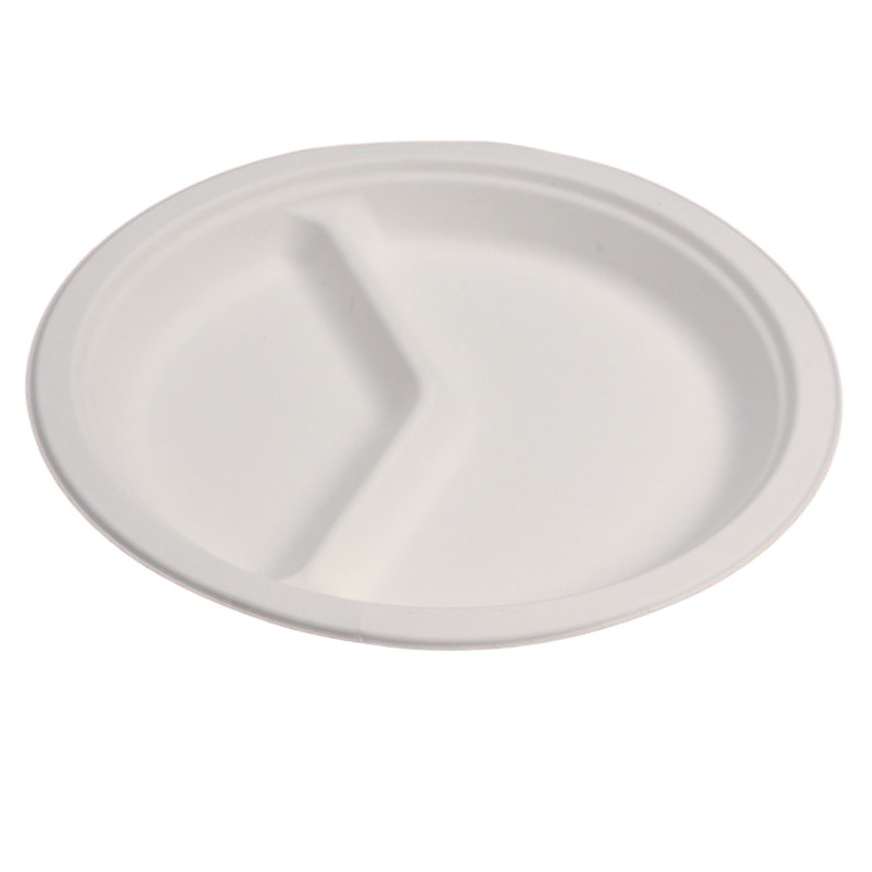 Professional round plate 2 compartments