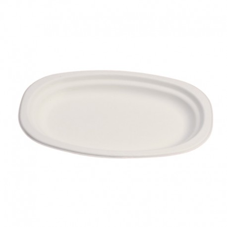 Oval plate with rim 23x16 cm