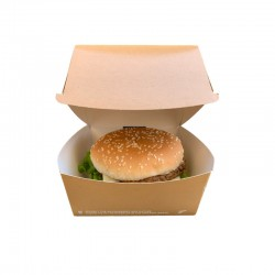 Bio hamburger box Large