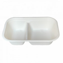 Food tray two compartments 1.000 ml