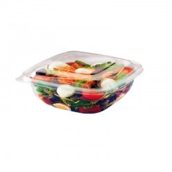 Transparent PLA food container 1000 ml