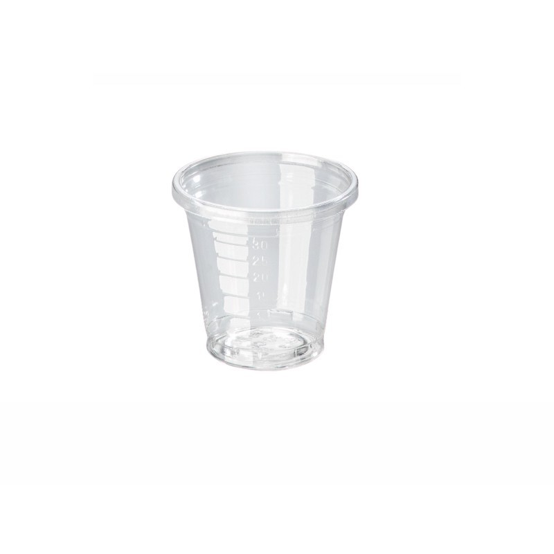 Transparent PLA small cup 30 ml