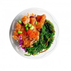 Transparent PLA food container 750 ml