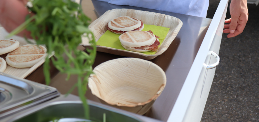 Palm leaf tableware are typically used in special events like historical reenactments