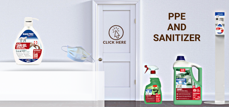 sanitizers and detergents